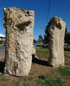 Fossilised Forrest Sculptures - eAccommodation