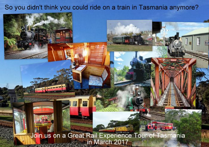 Great Rail Experiences  Tasmania Tour 2017 - eAccommodation