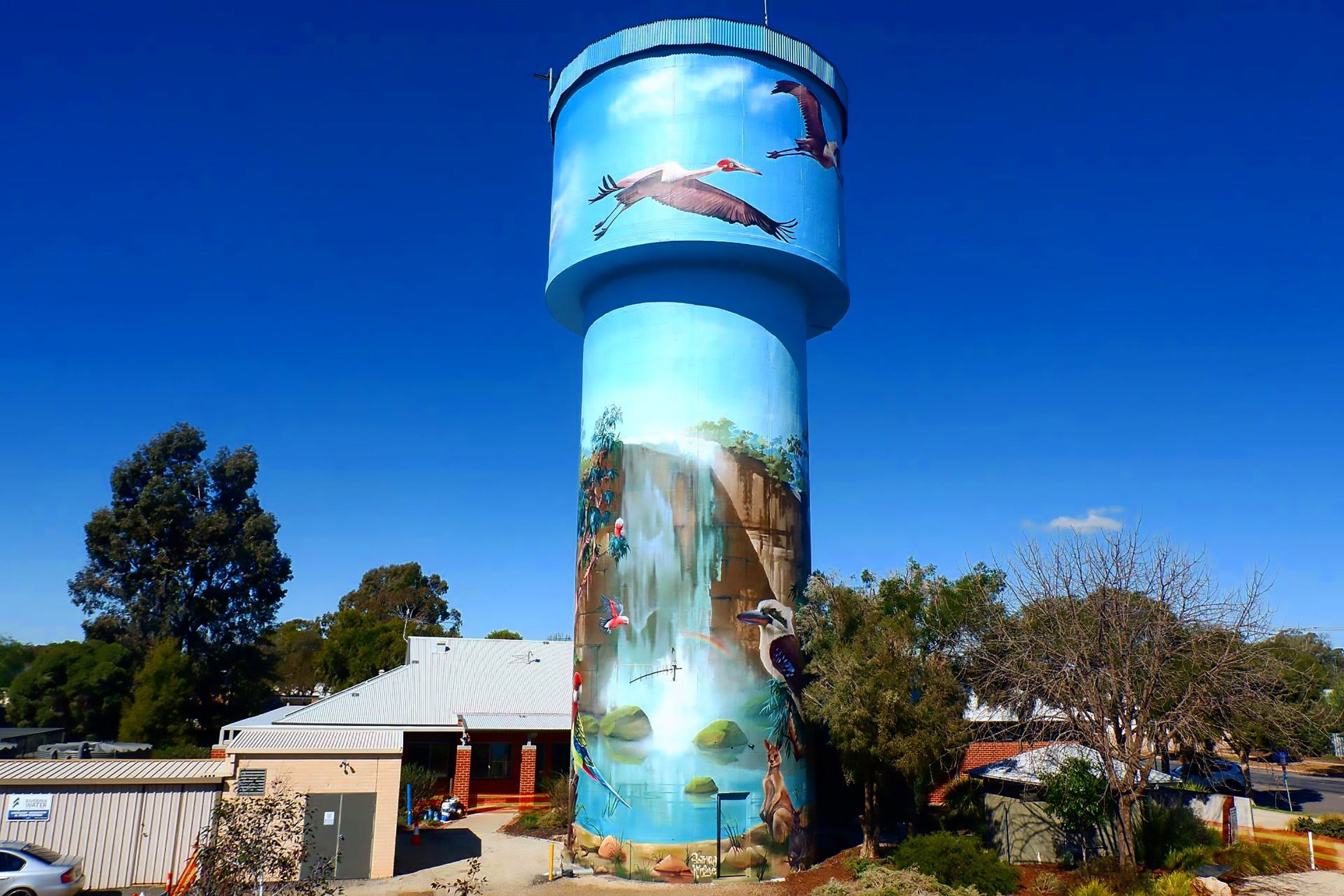 Lockhart Water Tower Mural - eAccommodation