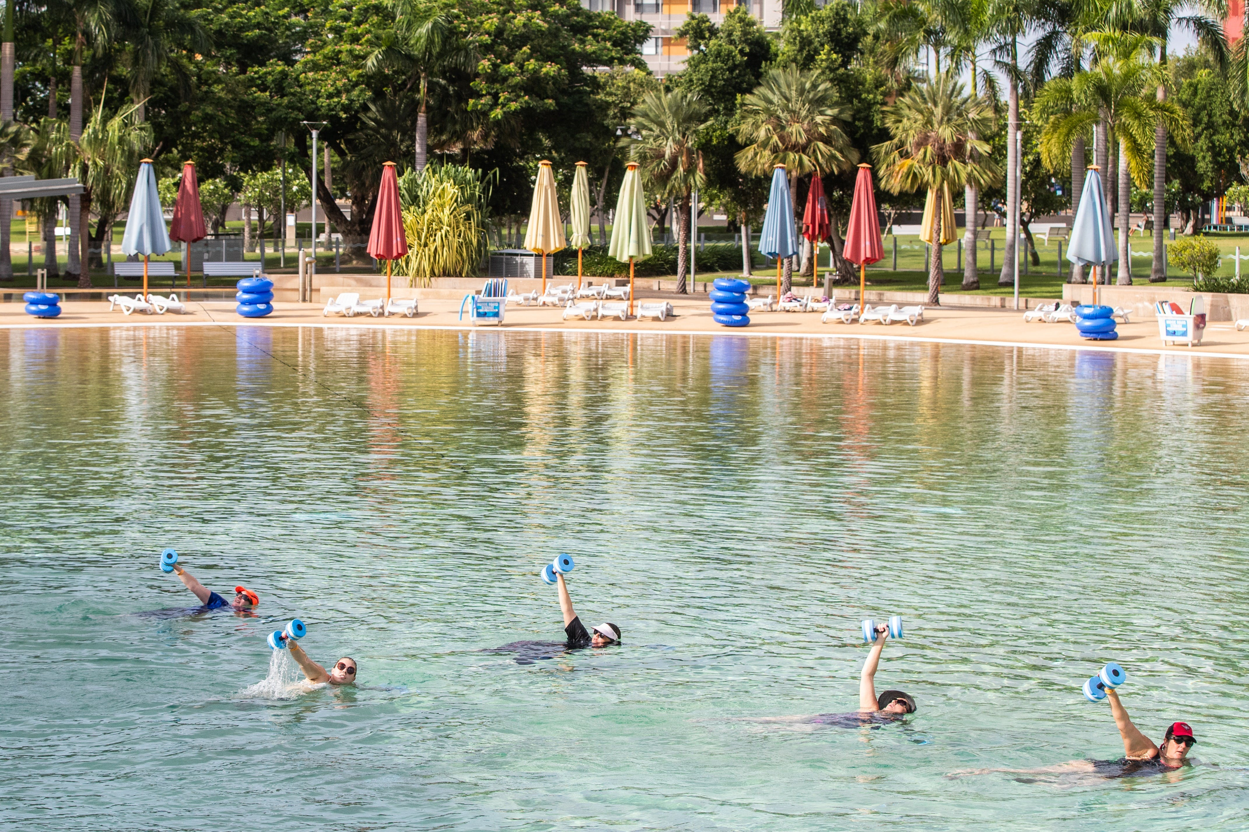 Aqua fitness in the Wave Lagoon - eAccommodation