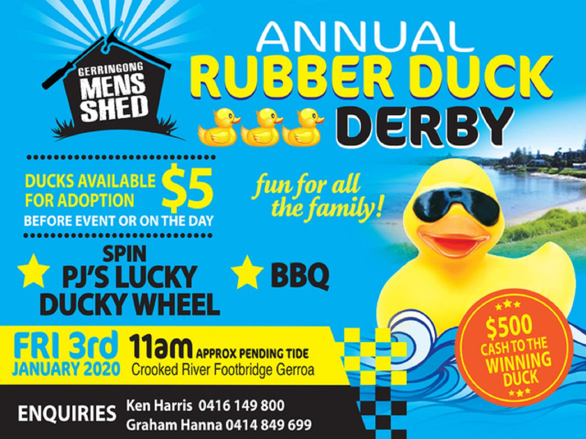 Gerringong Mens Shed Annual Duck Derby - eAccommodation